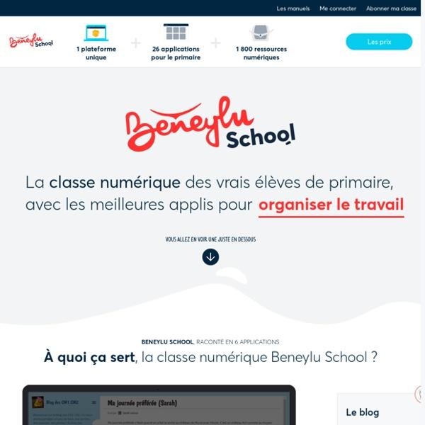 Beneylu - La classe numérique du primaire