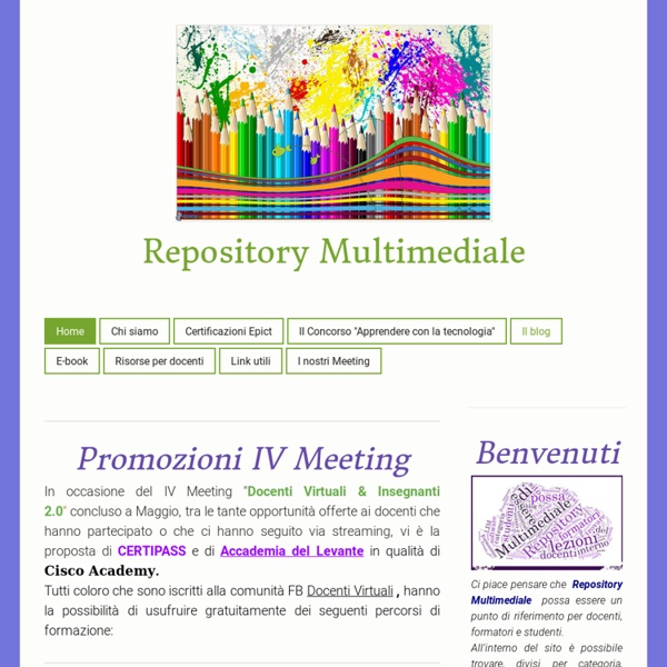 Benvenuti - Benvenuti su repositorymultimediale!