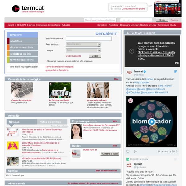 TERMCAT – Benvingut al web del TERMCAT