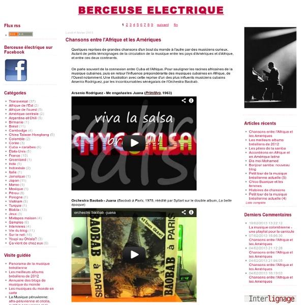 Berceuse électrique, blog des musiques du monde