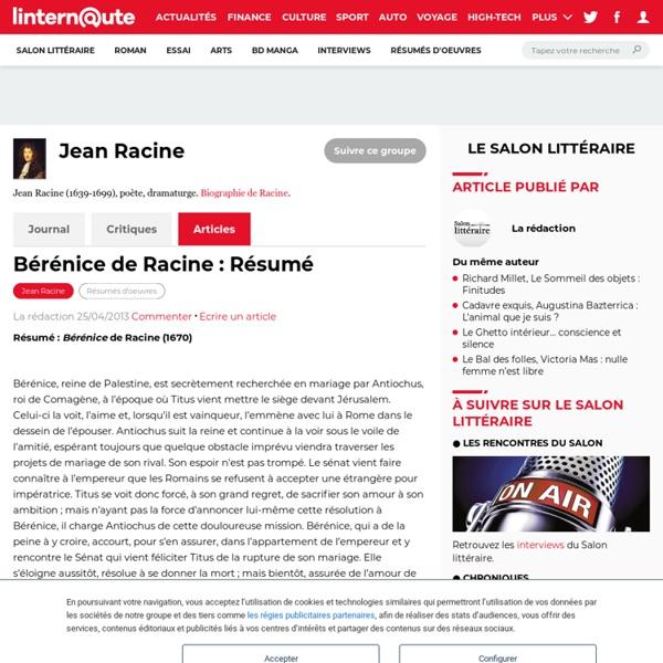 Bérénice de Racine : Résumé
