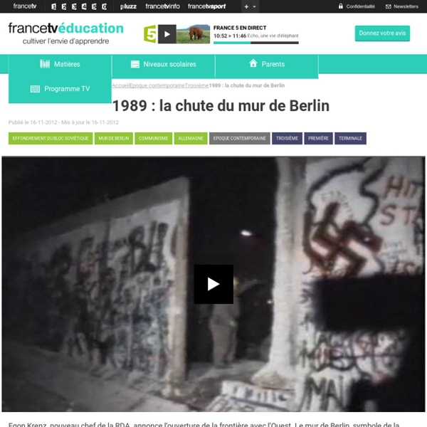 1989 : la chute du mur de Berlin