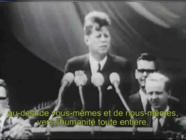 """JFK : """"Ich bin ein Berliner"""" (26 juin 1963) (FRANÇAIS)"""