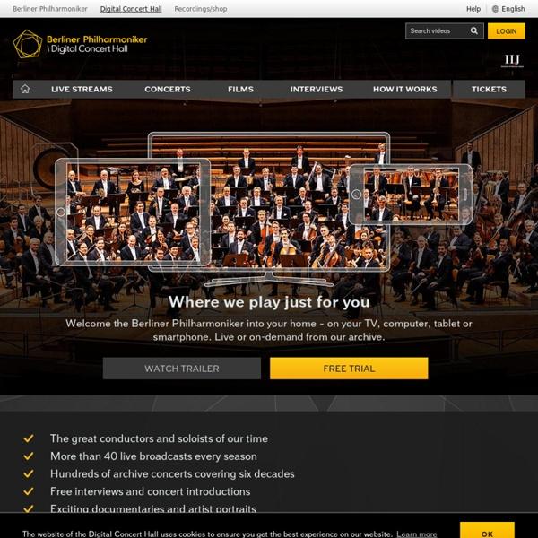 The Berliner Philharmoniker's Digital Concert Hall