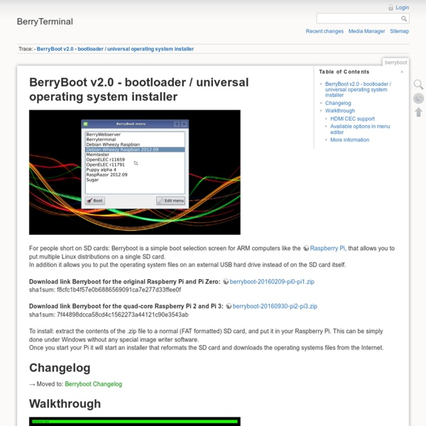 BerryBoot v2.0 - bootloader / universal operating system installer
