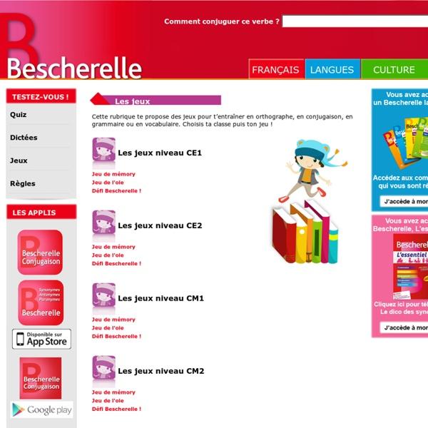 Les jeux en ligne Bescherelle