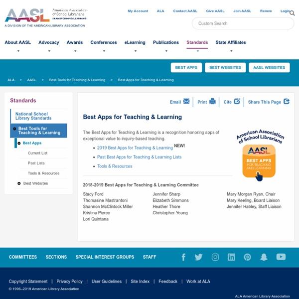 Best Apps for Teaching & Learning