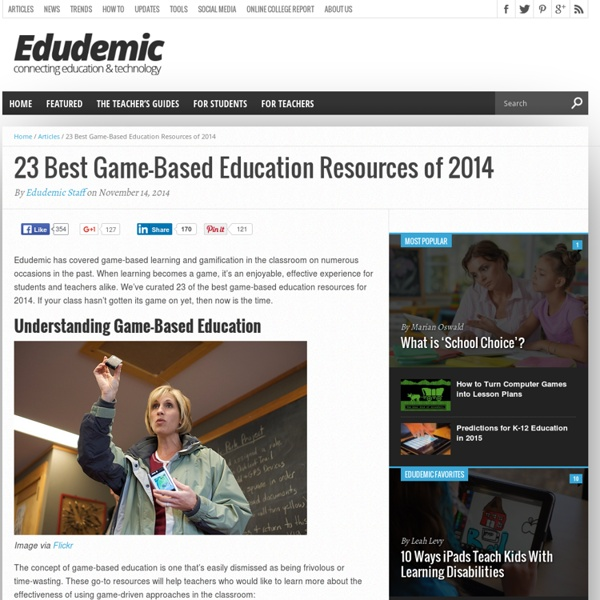 The 23 Best Game-Based Education Resources for 2014