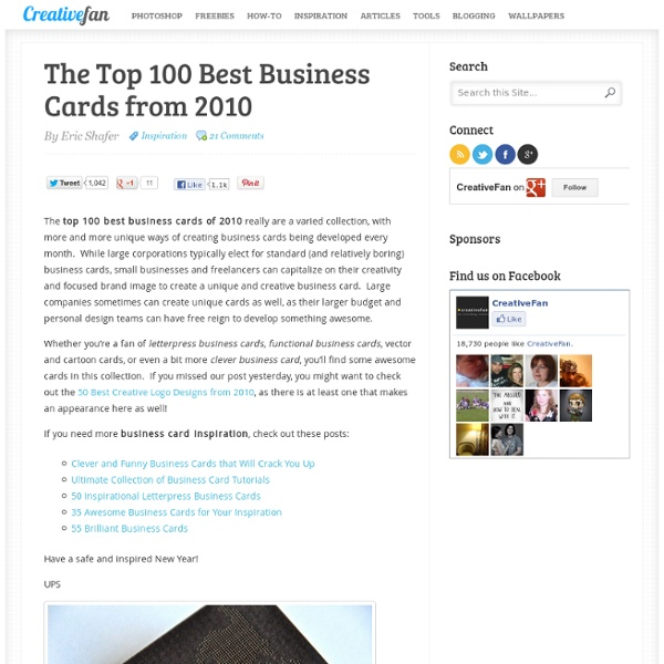 The Top 100 Best Business Cards from 2010