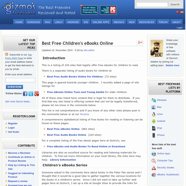 Best Free Children's eBooks Online