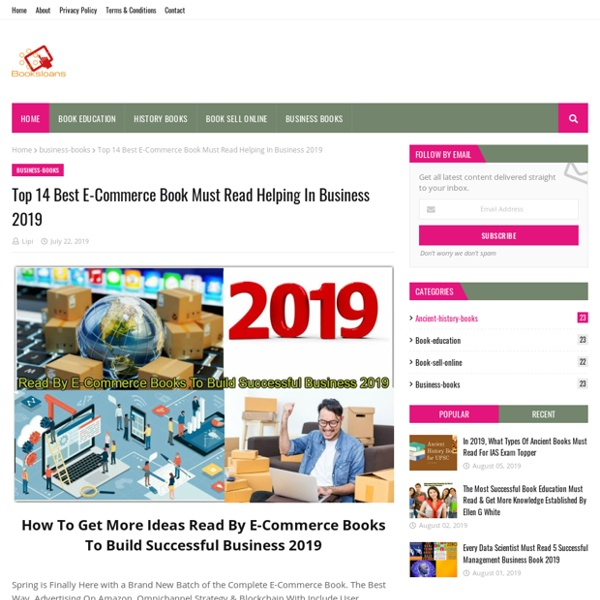 Top 14 Best E-Commerce Book Must Read Helping In Business 2019