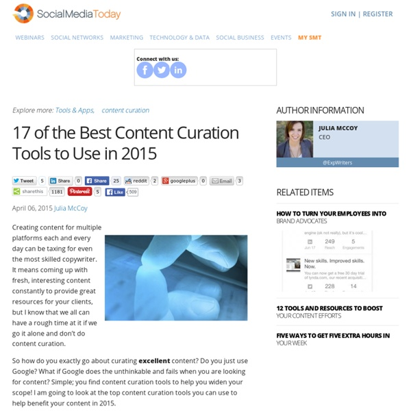 17 of the Best Content Curation Tools to Use in 2015