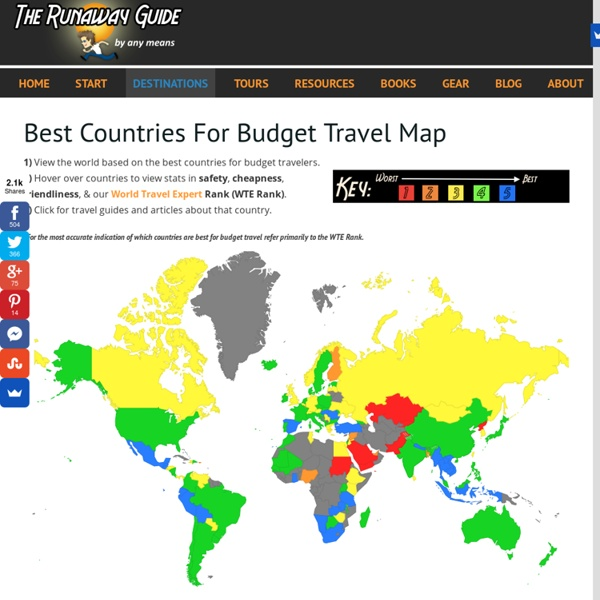 Best Countries For Backpacking Map