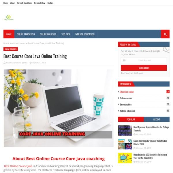 Best Course Core Java Online Training