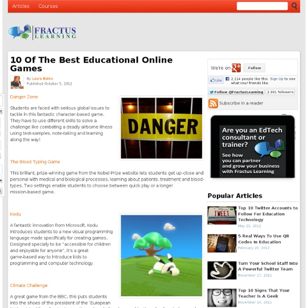 10 Of The Best Educational Online Games