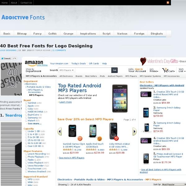 40 Best Free Fonts for Logo Designing