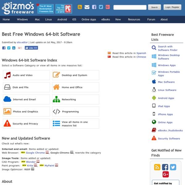 Best Free Windows 64-bit Software