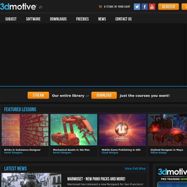 3dmotive — High Quality Training by Game Industry Pros!