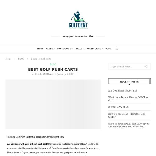 Best golf push carts - Golfdent