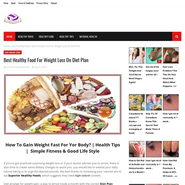 Best Healthy Food For Weight Loss On Diet Plan