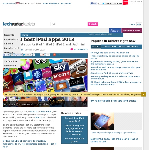 Top 200 best iPad apps 2012