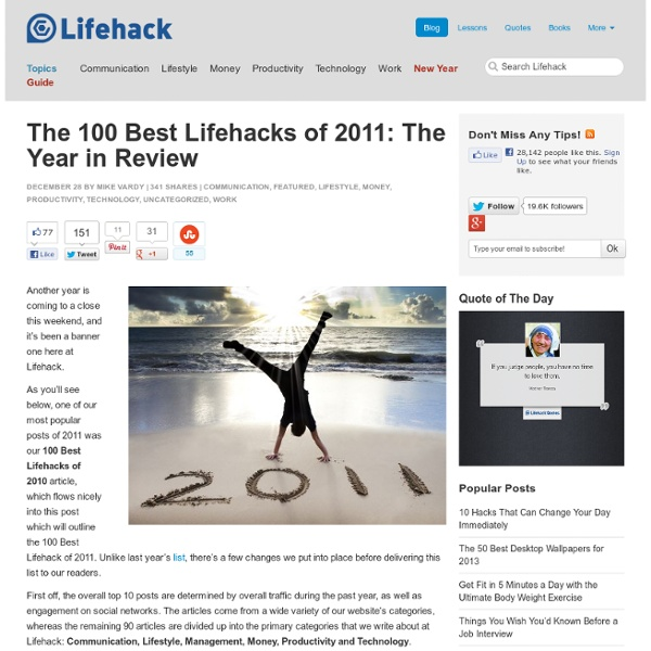 The 100 Best Lifehacks of 2011: The Year in Review