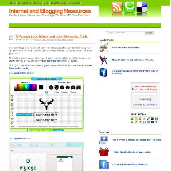 5 Best Logo Maker and Logo Creator Tools