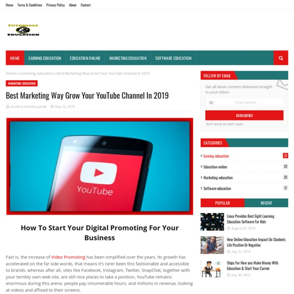 Best Marketing Way Grow Your YouTube Channel In 2019