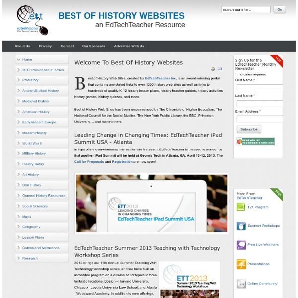 Best of History Web Sites