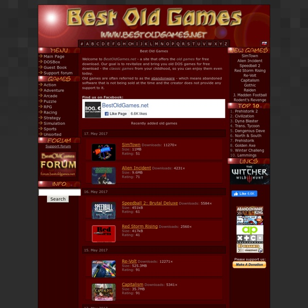 Old Games : Free download [eng]