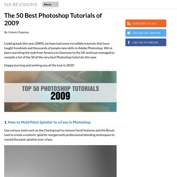 The 50 Best Photoshop Tutorials of 2009