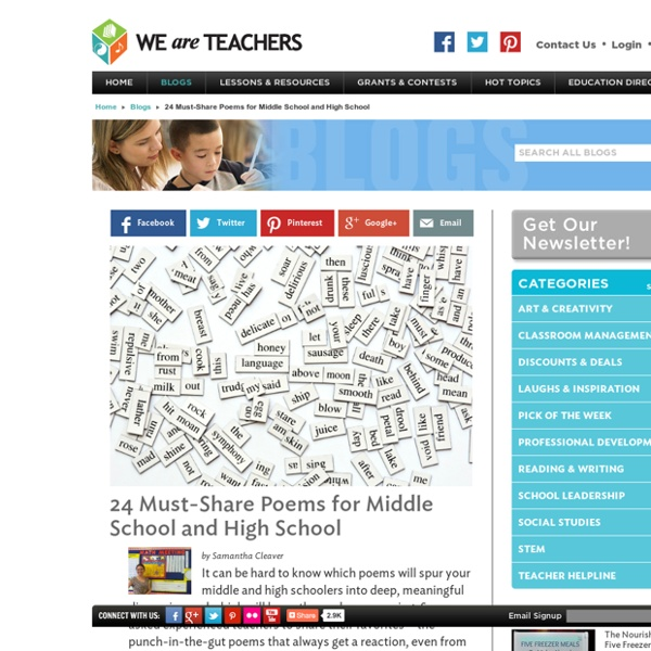 24 Best Poems to Teach in Middle and High School