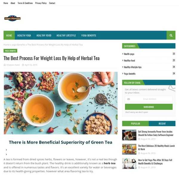 The Best Process For Weight Loss By Help of Herbal Tea