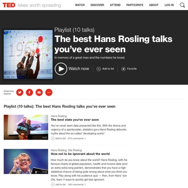The best Hans Rosling talks you've ever seen
