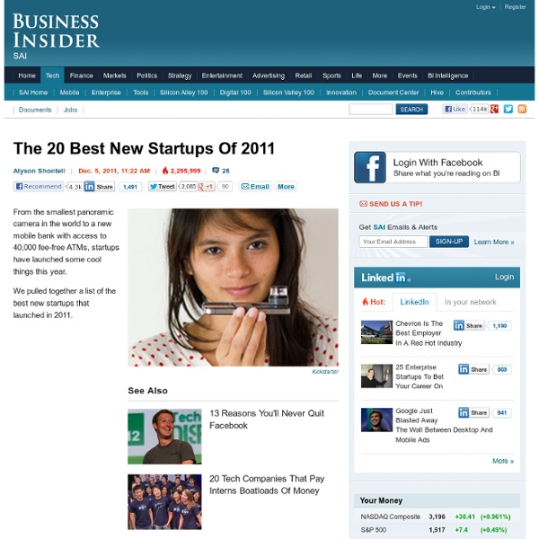 20 best startups of 2011