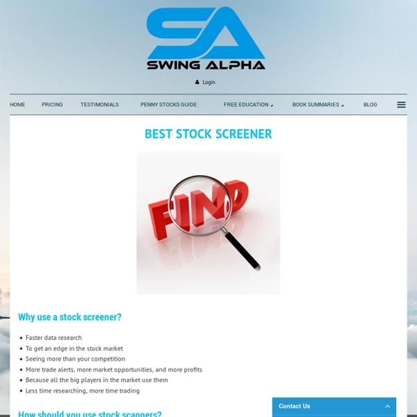 Best Stock Screener on the marker