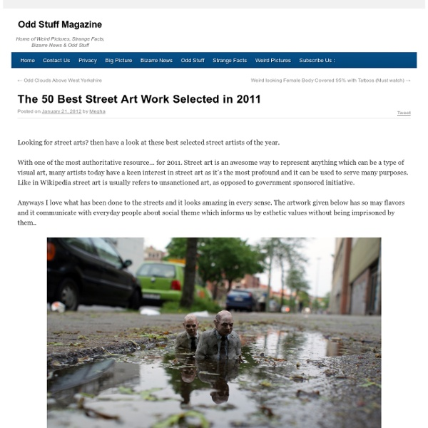 The 50 Best Street Art Work Selected in 2011