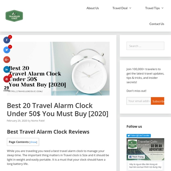 Best 20 Travel Alarm Clock Under 50$ You Must Buy [2020]