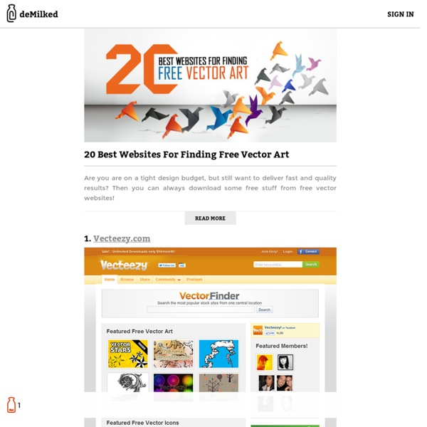 20 Best Websites For Finding Free Vector Art
