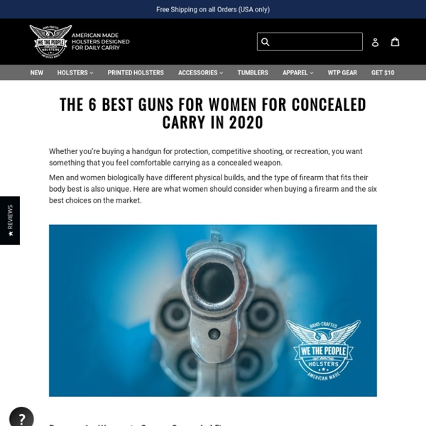 The 6 Best Guns for Women for Concealed Carry in 2020