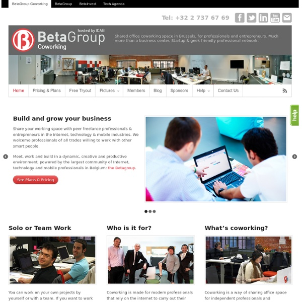 Coworking Brussels BetaGroup - Home
