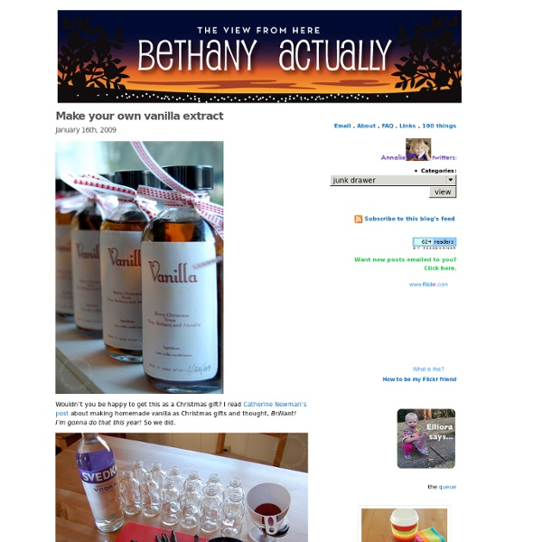 Bethany actually» Blog Archive » Make your own vanilla extract