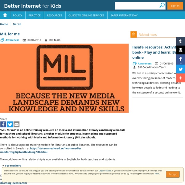 Better Internet for Kids - MIL for me