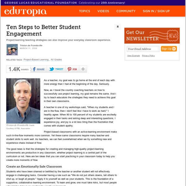 Ten Steps to Better Student Engagement