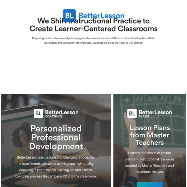 Free K-12 Lesson Plans, materials and resources