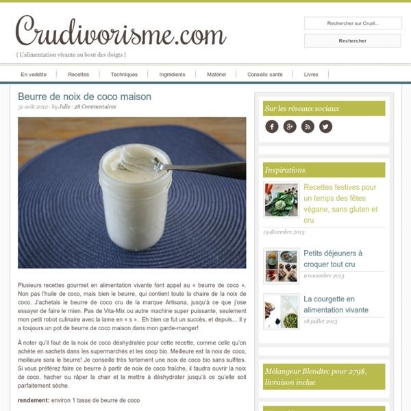Beurre de noix de coco maison