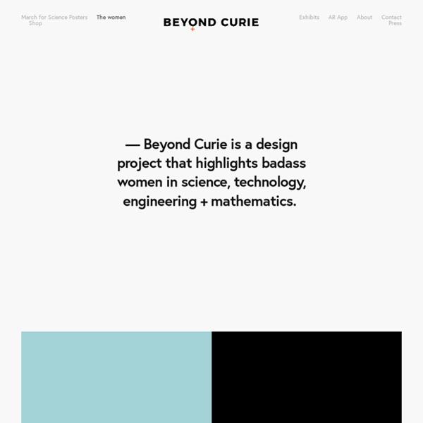 Beyond Curie - un projet de design célébrant les femmes dans les STEM