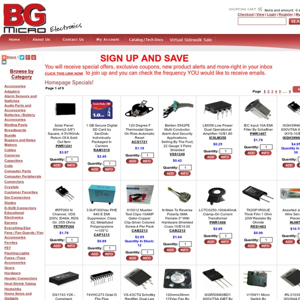 Electronics - Parts, Kits, Components, Projects, Surplus, DIY, Hobby