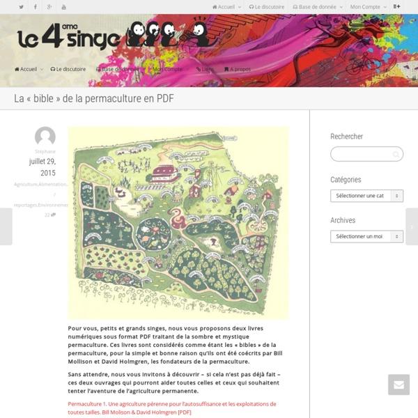 """La """"bible"""" de la permaculture en PDF"""