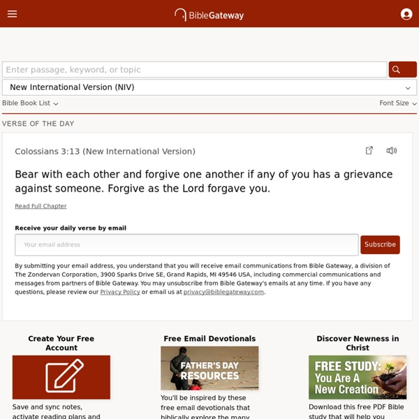 BibleGateway com: A searchable online Bible in over 100 versions and